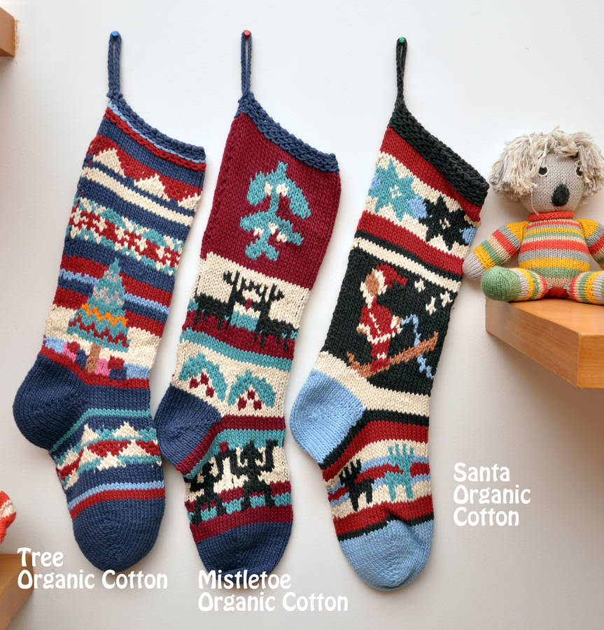 knit christmas stockings hand knitted christmas stocking OZWSKQK ...