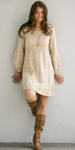 knit dress 080942 06 pt 87 voksen 1 s. hand knit women dress ... PHRWYKF