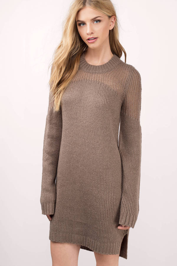 Wear a versatile figure accentuating knit dress