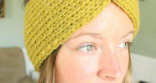 knit headband pattern turban style knit headband | simplymaggie.com YAEGKID