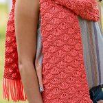 Knit scarf pattern variations