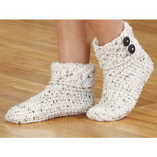 knit slippers, aran tweed JXQOBVJ