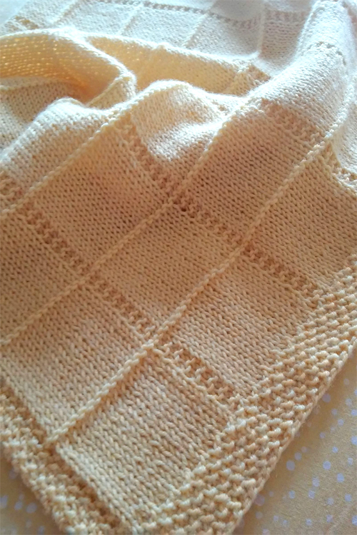Knitted Baby Blankets Knitting Pattern For Dream Baby Blanket
