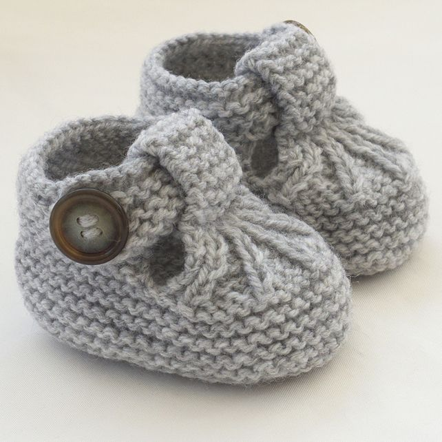 knitted baby booties hand knitted baby shoes-booties CMIANFH