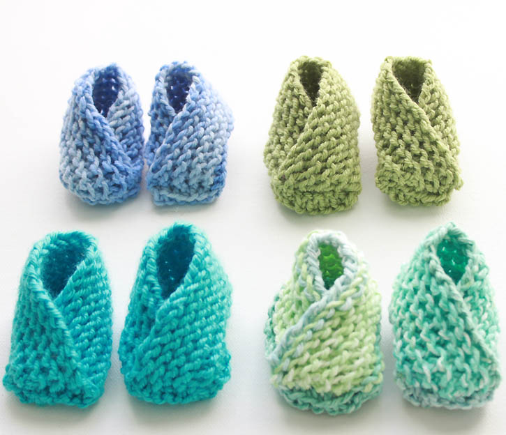 knitted baby booties knitting pattern for the easiest baby booties ever by gina michele FISRNSU