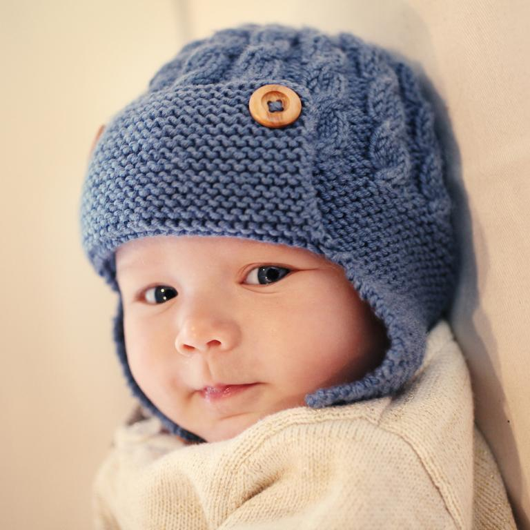 knitted baby hats aviator baby hat knitting pattern YKXEBCT