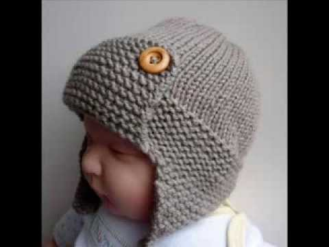 knitted baby hats baby aviator hat regan - knit baby hats pattern presentation HYWWIXE