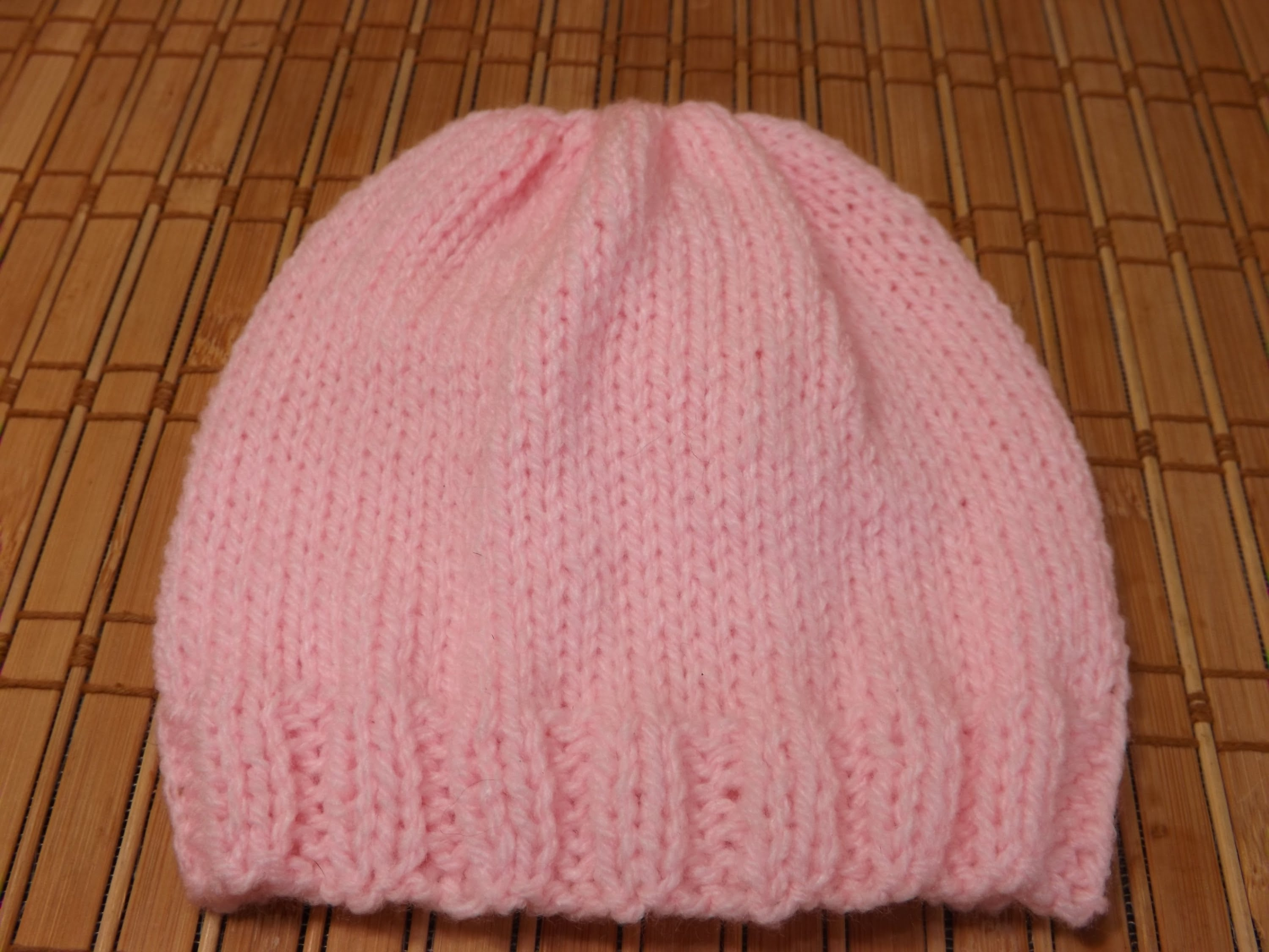 knitted baby hats how to knit a newborn babyu0027s hat for beginners - youtube VMROEAI