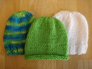 knitted baby hats lickety-split baby hats TBICHFM