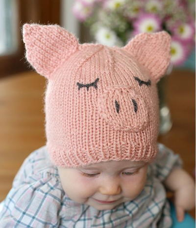 knitted baby hats this little piggy went home baby hat PCGHLRD