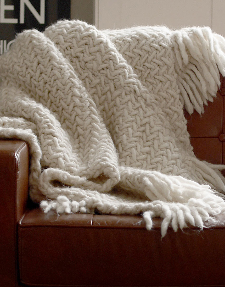 knitted blanket ... could be the one for you - itu0027s the stitch used in our super-popular WDORAJS