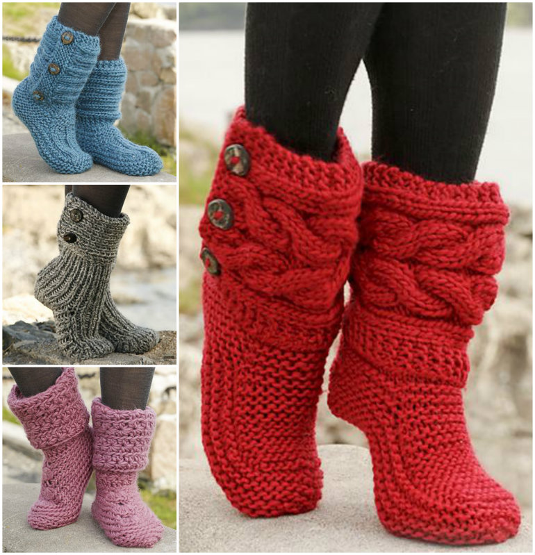 knitted boots free knitted u0026 crochet slipper boots patterns COCMGTQ