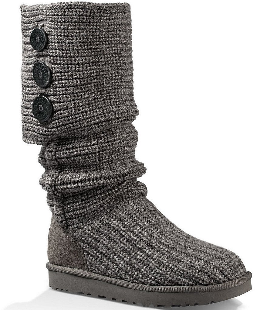 knitted boots ugg® classic cardy button detailed knit boots AKDHMUK