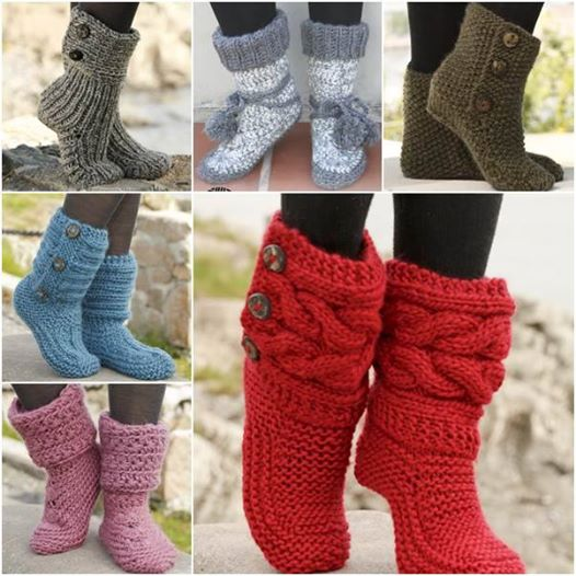 knitted boots view in gallery 8 knitted crochet slipper boots JLJWQMS