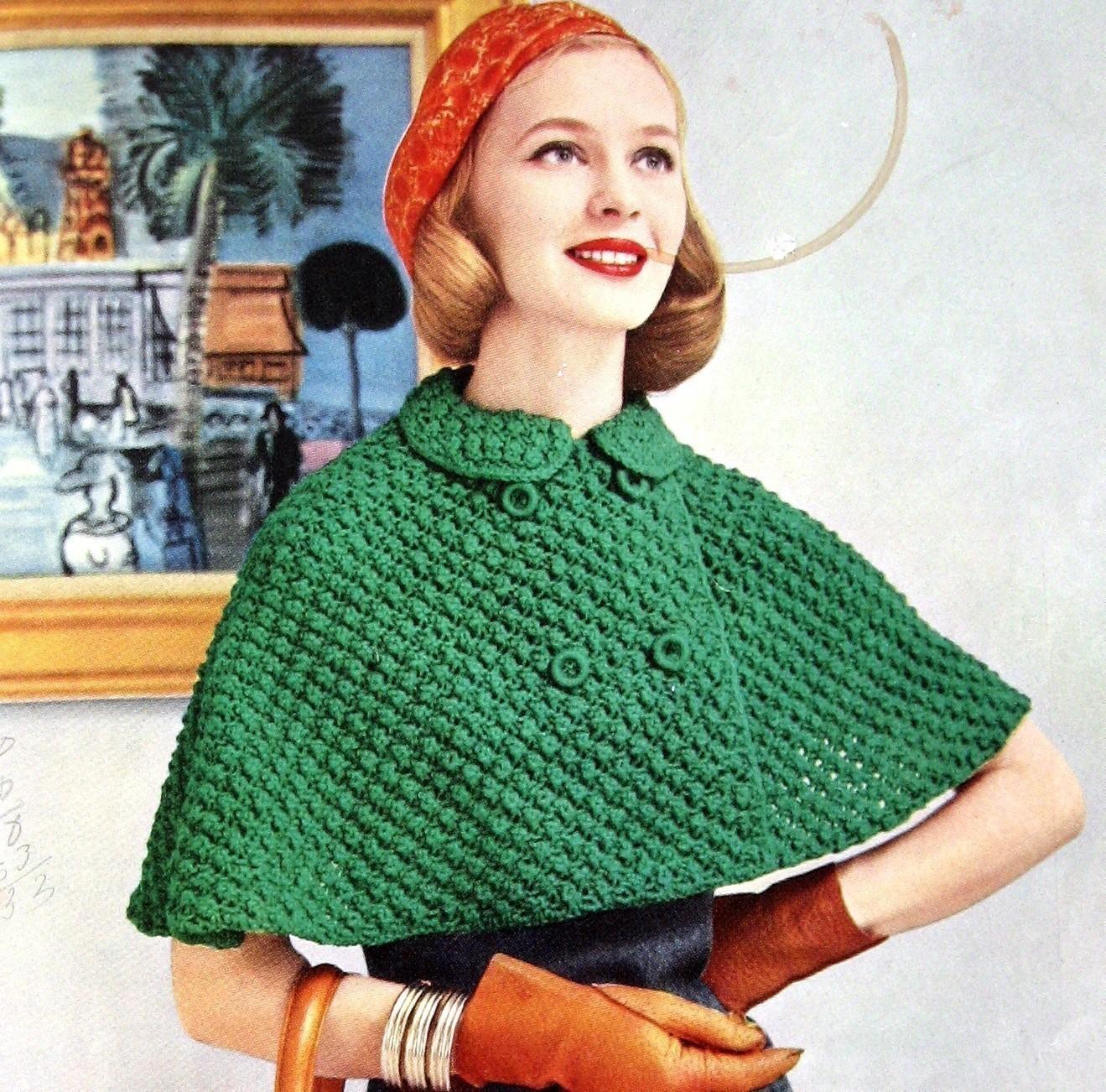 knitted cape 🔎zoom CQIREYO