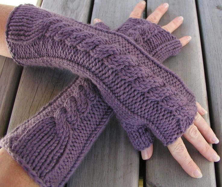 knitted gloves free knitting pattern - kumara arm warmers from the gloves and LGPNBYL