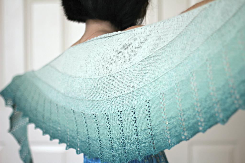 knitted shawl spearmint tea shawl free knitting pattern LDTRYTK