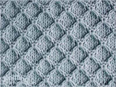 knitting stitches diamond-honeycomb-stitch YJXIEMV