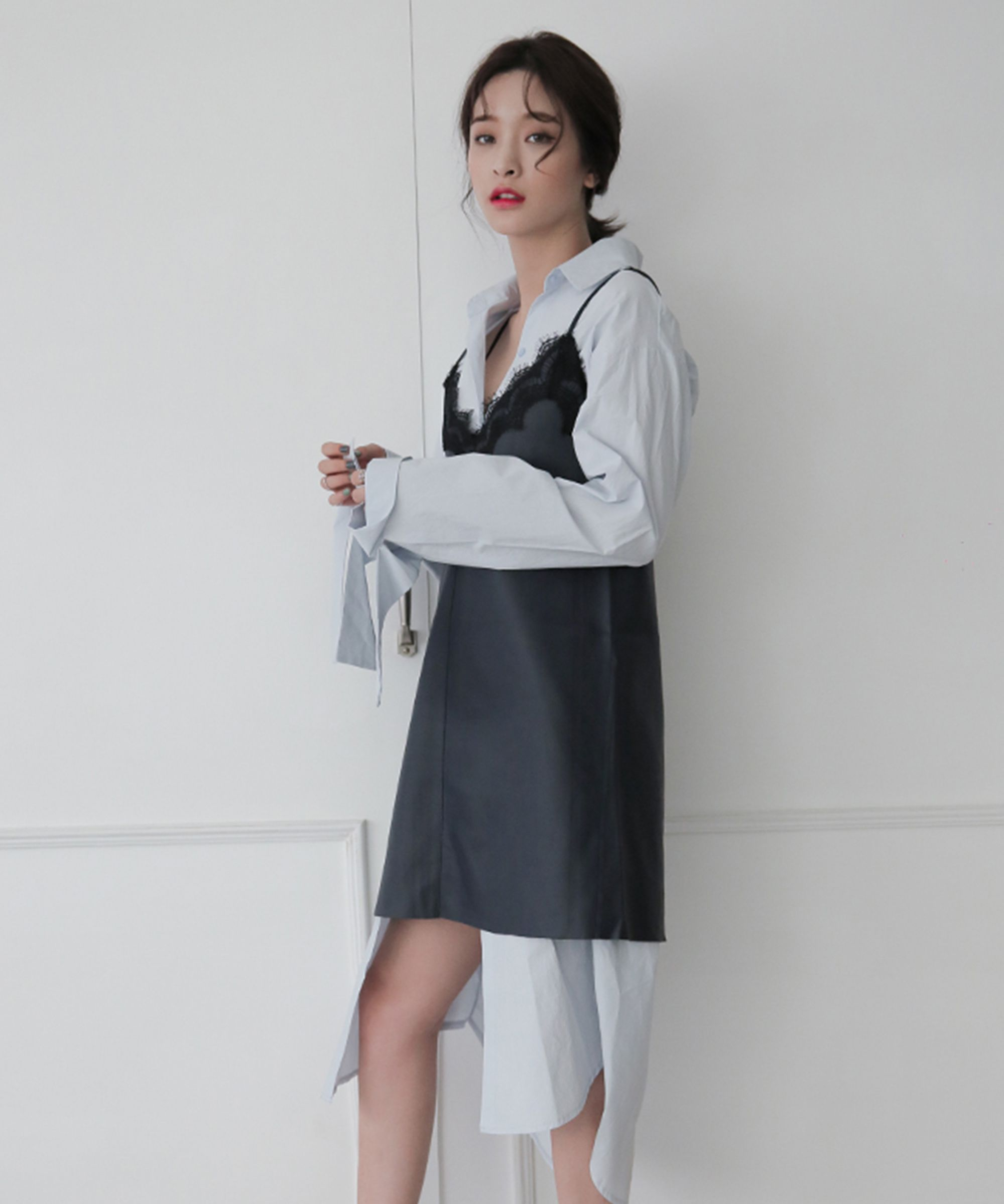 korean fashion stylenanda outfits fishnets corset belt TIDHSEO