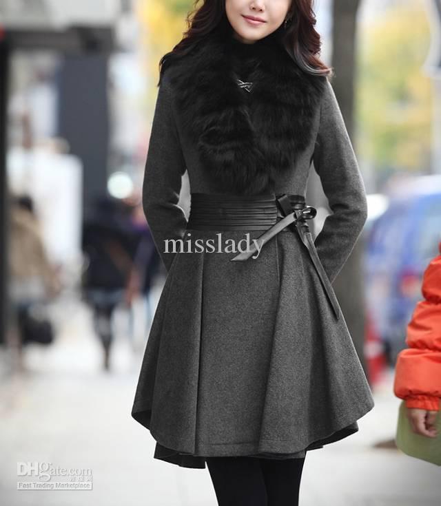 ladies coats online cheap womens coats ladies fur collar long wool coats casual overcoat  outerwear coats OHKDJMW