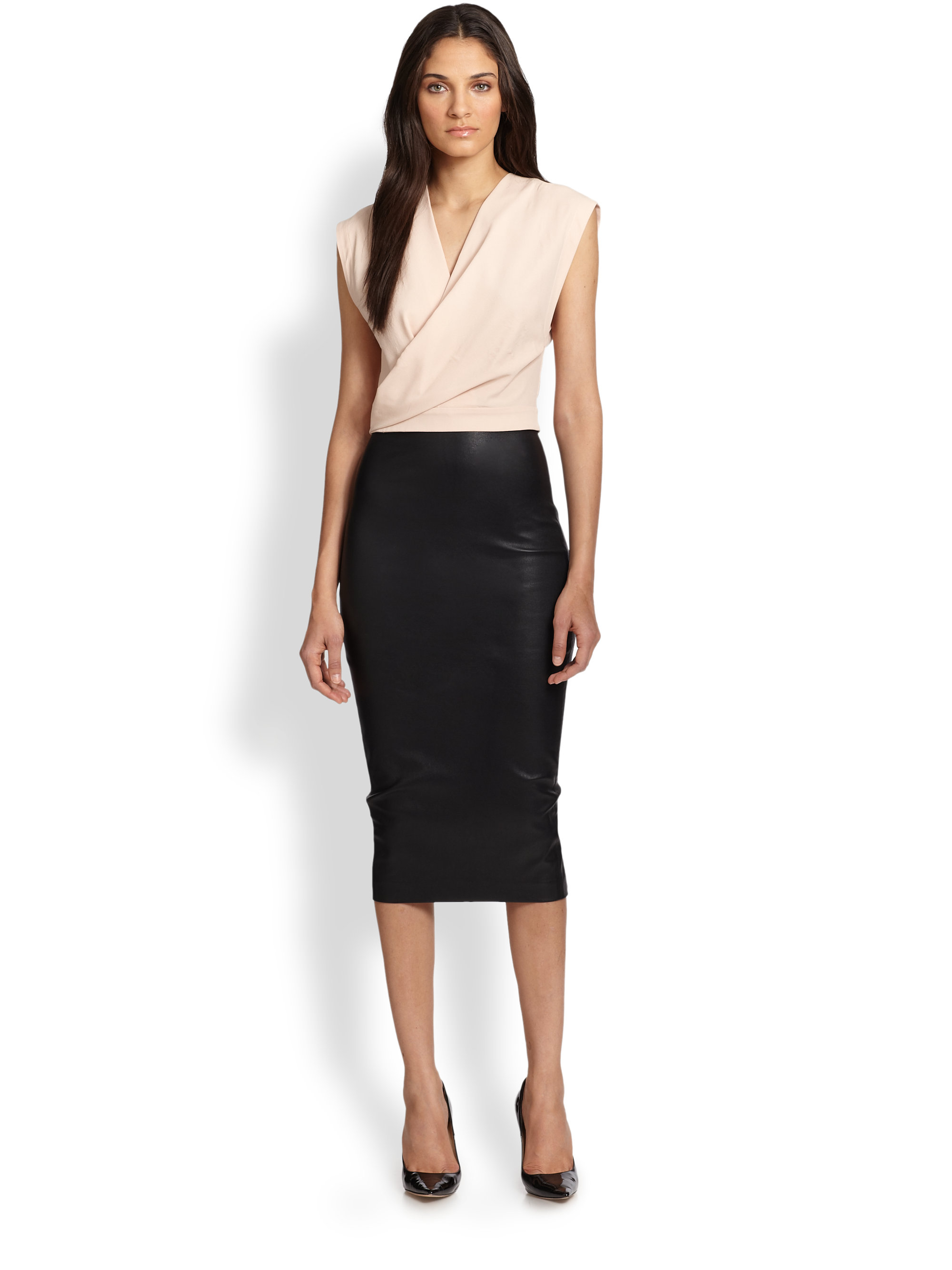leather pencil skirt gallery UUOYETI