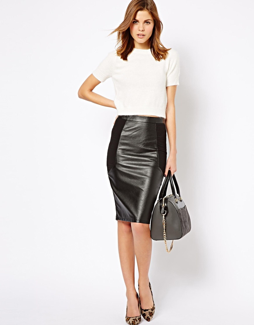 leather pencil skirt gallery. womenu0027s black leather pencil skirts ... QYEPFCT