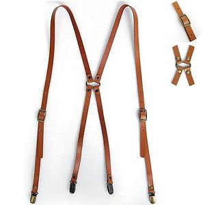 leather suspenders image is loading new-mens-leather-suspenders-x-back-retro-braces- TGLWLBA