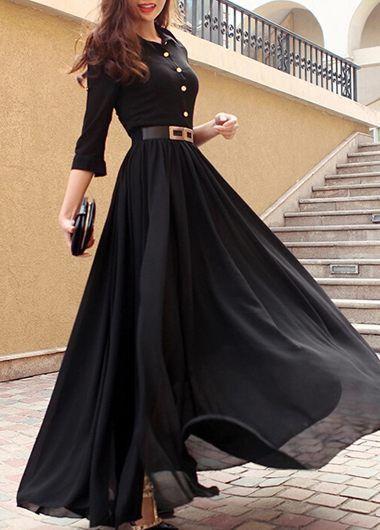 long dresses double slit scoop neck stripe print maxi dress WQVJYPZ