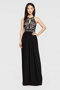 long dresses long a-line halter prom dress - morgan and co XCDGRAC