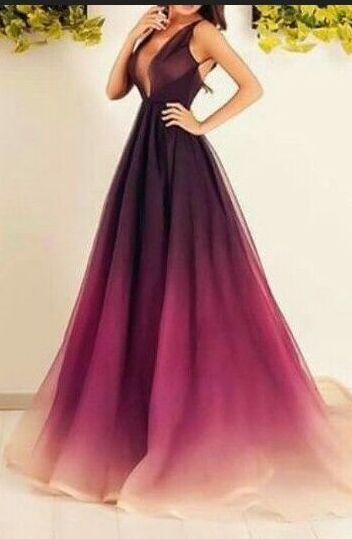 long dresses long evening dresses,sparkly prom dresses,ombre chiffon prom dresses,long  prom dresses FRRFXVN