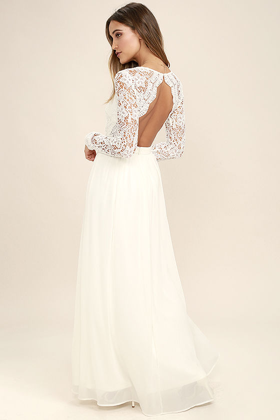 long lace dress awaken my love white long sleeve lace maxi dress 1 UNOSBEP