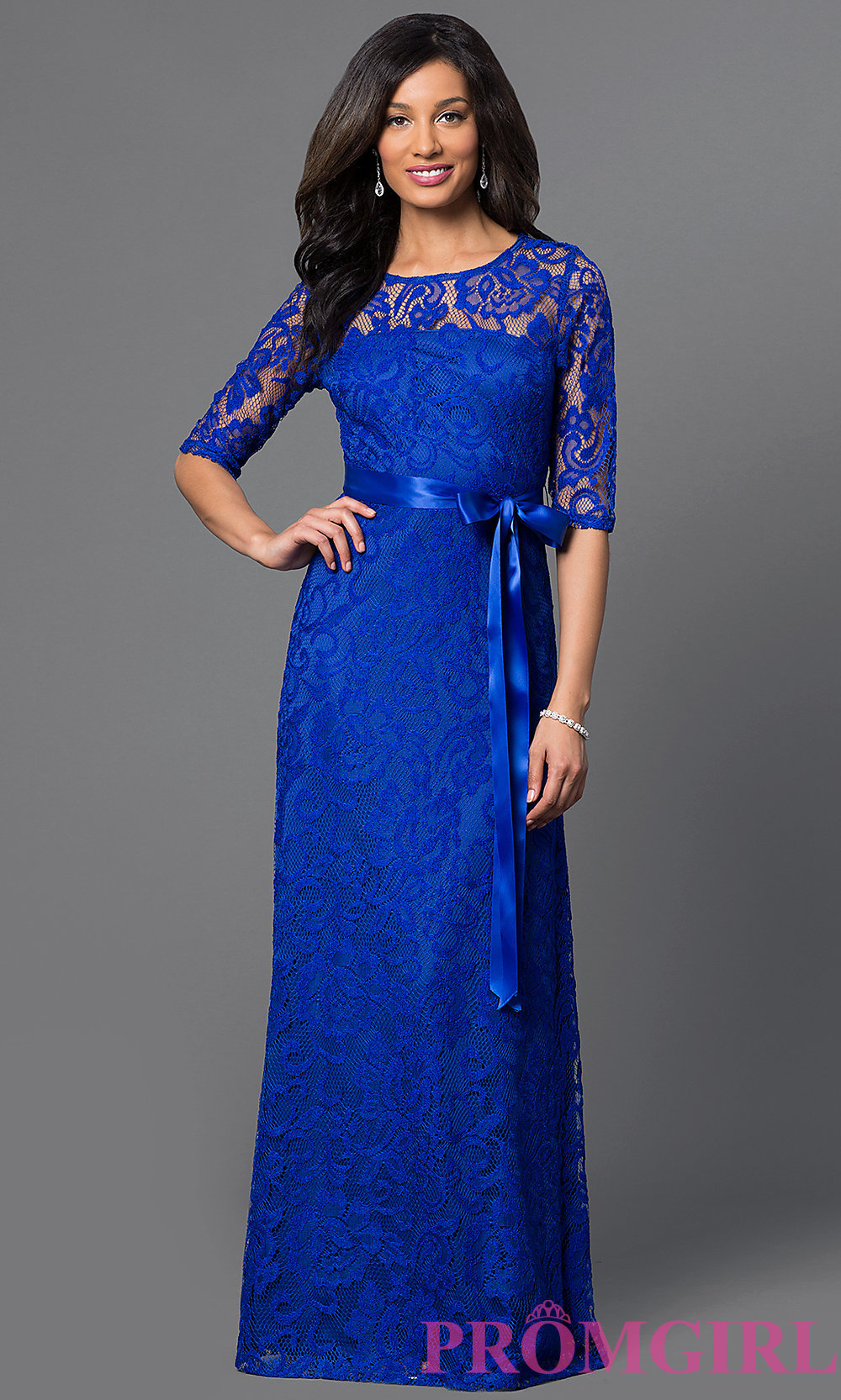 long lace dress hover to zoom HOSOYKN
