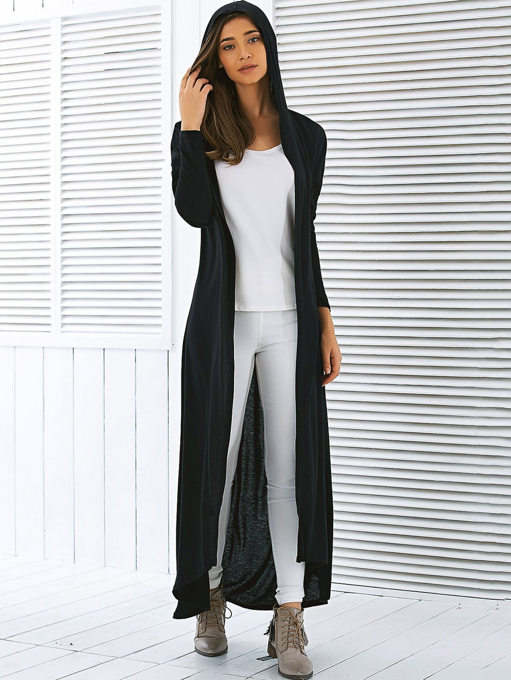 long sweaters hooded maxi long duster cardigan BROFAVV