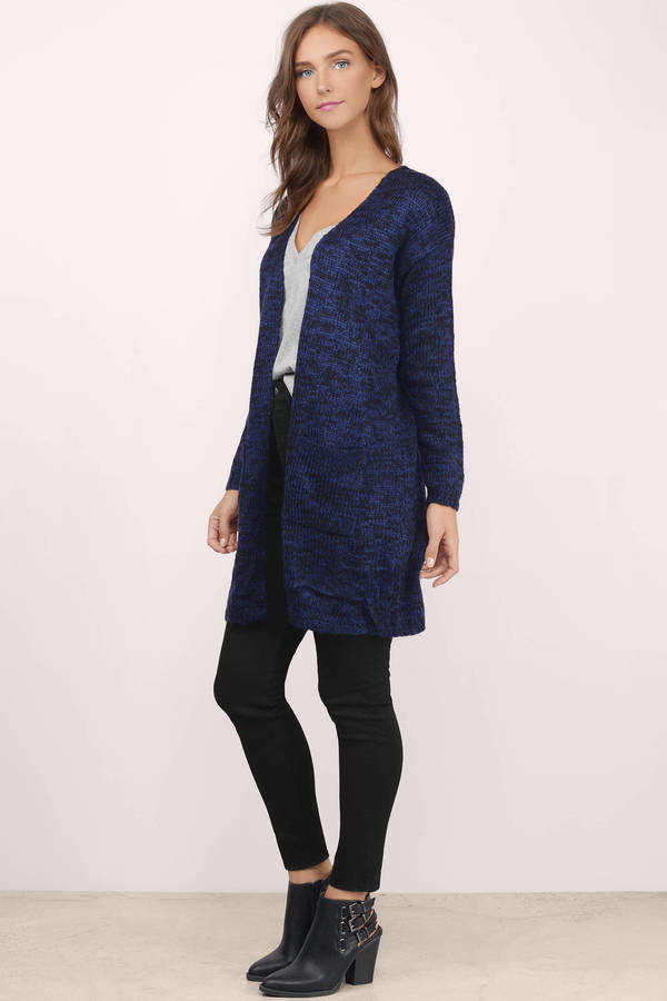 long sweaters maddie blue marled knitted cardigan maddie blue marled knitted cardigan ... BFPAOUG