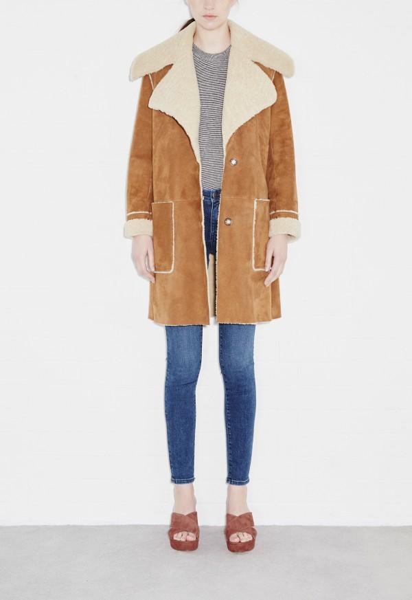m.i.h fairport shearling coat - bronze ... ZAHJWQN