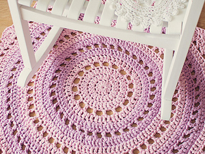 mandala rug - free crochet rug patterns ZNPYYCM
