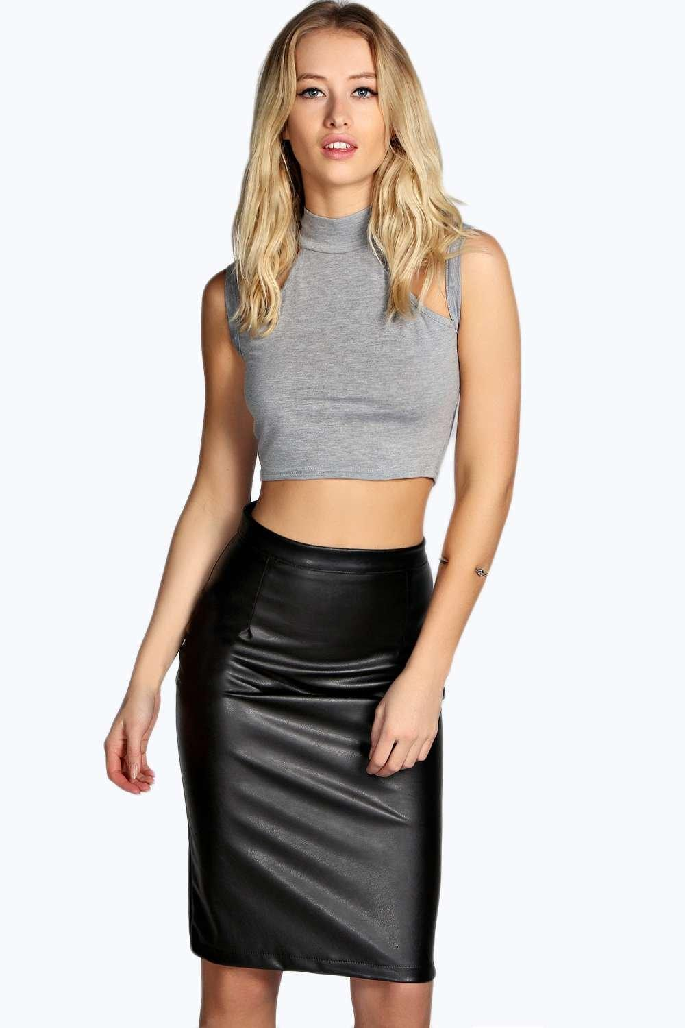 marisa faux leather pencil skirt. hover to zoom FYJCHFY