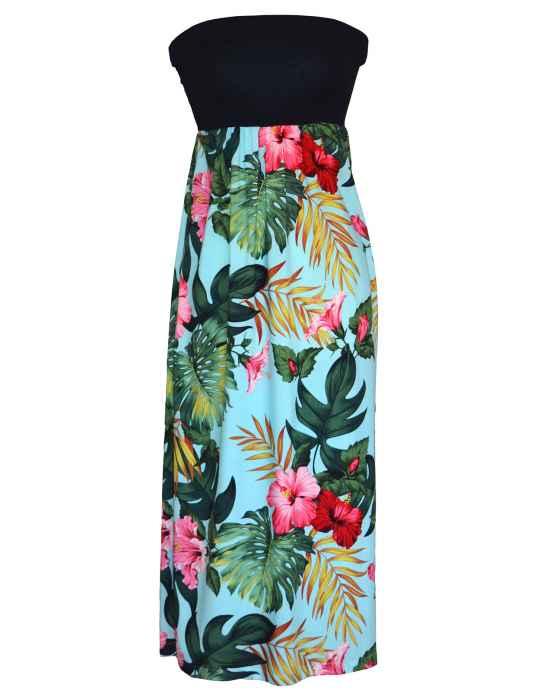 maxi long knit top strapless hawaiian dress moana. u2039 HJNJQVB