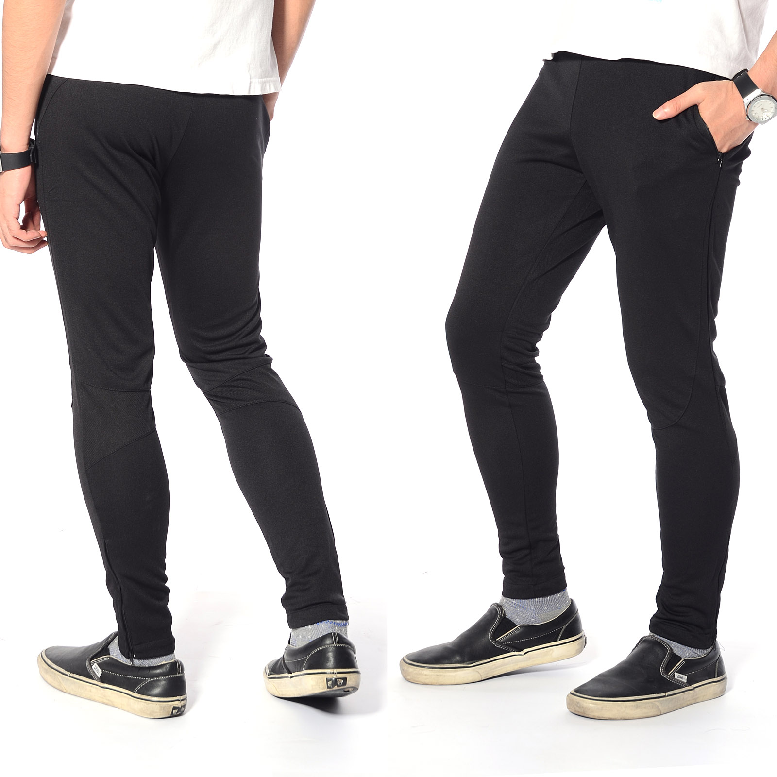 menu0027s skinny soccer pants training sweat sports gym athletic pants trousers QSBFGTR