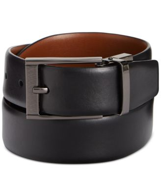 mens belts perry ellis menu0027s leather menu0027s leather reversible feather edge soft touch  cowhide belt PXFFUEX