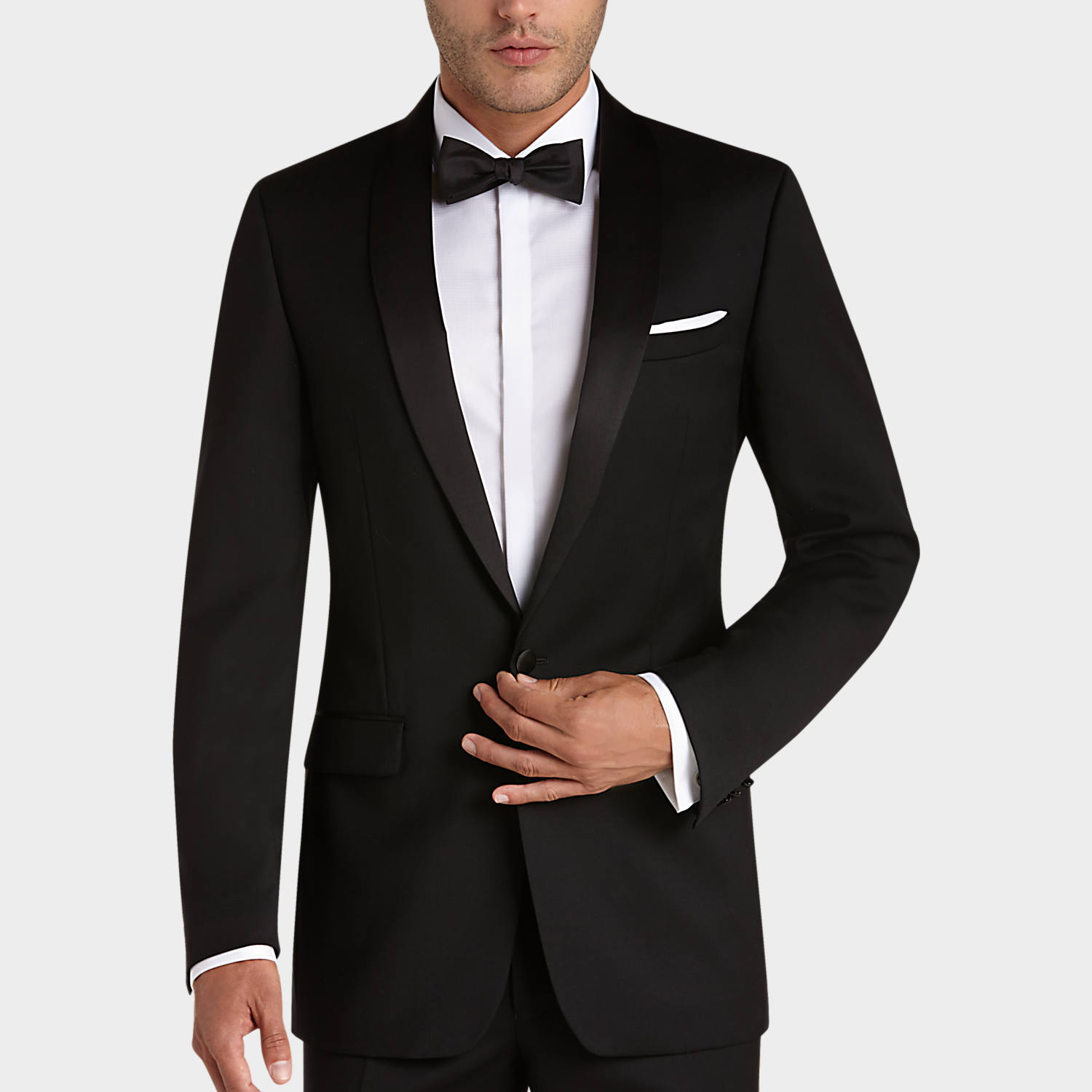 mens black suits, suits - calvin klein black slim fit tuxedo - menu0027s  wearhouse FCSRCUM