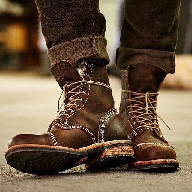 mens boots rugged good looks. impeccable quality. the smugglers notch 8-inch cap toe  boots BJXEIBS