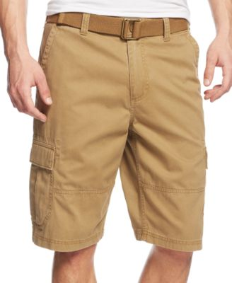 mens cargo shorts american rag menu0027s belted relaxed cargo shorts, created for macyu0027s EPUHAAF