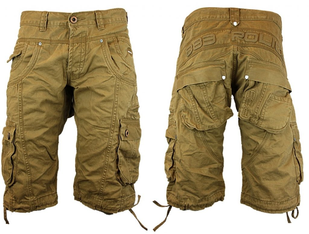 mens cargo shorts new mens police jeans 883 seattle designer loose fit cargo shorts all sizes  uk XNFYXPK