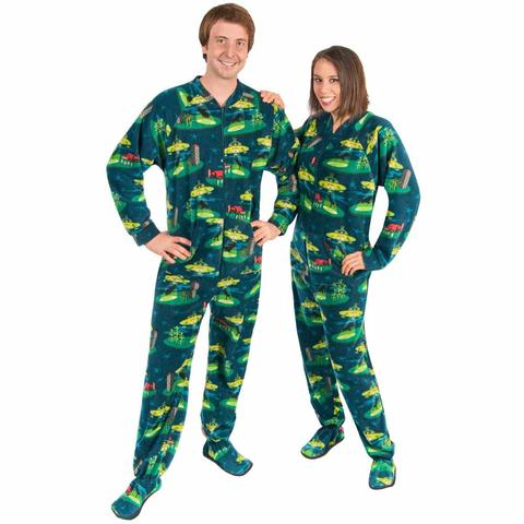 mens footie pajamas alien abduction drop seat - *limited sizes* WFPBSWL