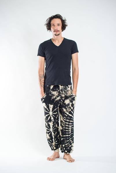 mens harem pants tie dye cotton men harem pants in black and white SMXNWXS