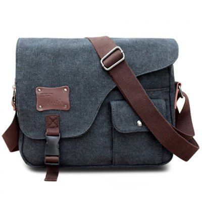 mens messenger bags casual buckle and rivet design menu0027s messenger bag GJVIGKP