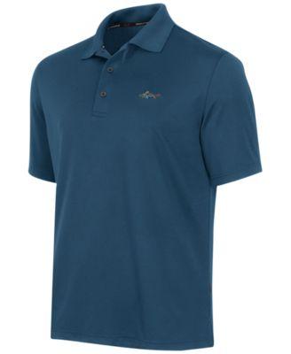 mens polo shirts greg norman for tasso elba menu0027s 5 iron performance golf polo VTFBCPH