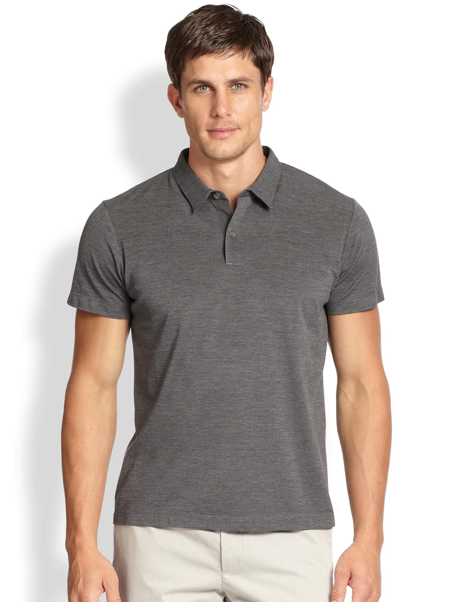 mens polo shirts silkblendpolo - ashley weston KDLUELZ