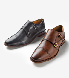 mens shoes monk strap shoes WELYMFI